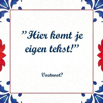 Tegeltje Nederland (nr.46)