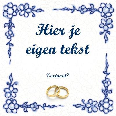 Huwelijk tegeltje (nr.21 met foto)